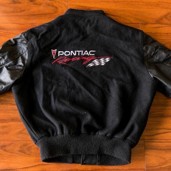 a683c3a99d16 Vintage Pontiac Racing Leather Varsity Jacket. M 5bd109c7a5d7c6115d346ea3